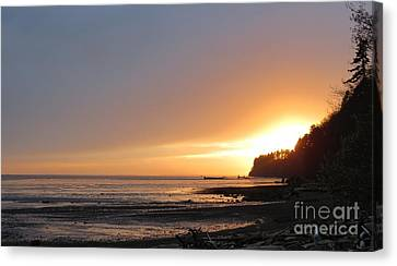 Grays Harbor Sunset II Canvas Print