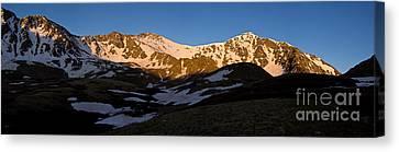 Grays Peak And Torreys Peak Panorama Canvas Print by Benjamin Reed