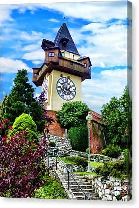 Graz Clock Tower Canvas Print