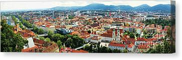 Graz Panorama Canvas Print