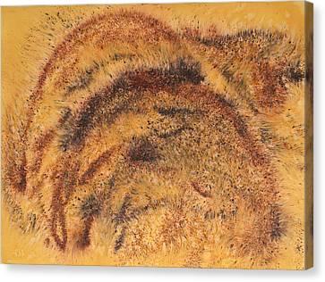 Grazing Bears Canvas Print