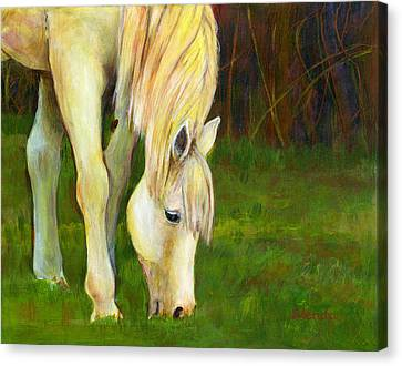 Blendastudio Canvas Print - Grazing Horse by Blenda Studio