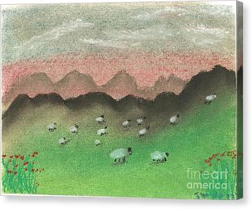 Grazing In The Hills Canvas Print by Tracey Williams