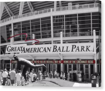 Great American Ball Park And The Cincinnati Reds Canvas Print by Dan Sproul