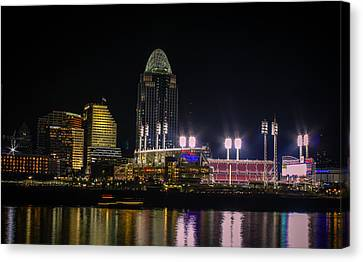 Great American Ball Park Canvas Print by Cathy Donohoue