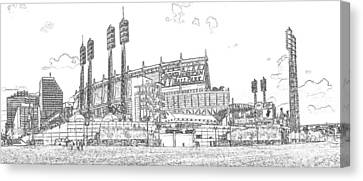 Great American Ball Park Line Canvas Print