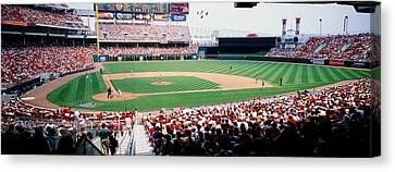 Great American Ballpark Cincinnati Oh Canvas Print by Panoramic Images