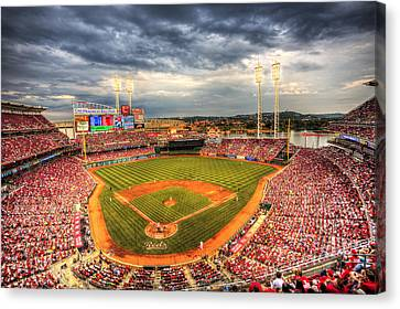 Baseball Canvas Print - Great American Ballpark by Shawn Everhart