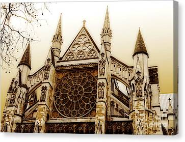 Great Architecture Westminster Abbey Canvas Print by MaryJane Armstrong