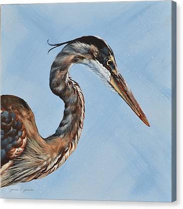 Great Blue Iv Canvas Print by Joan Garcia