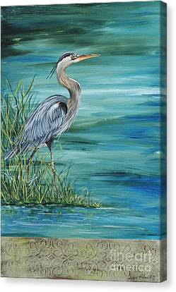 Great Blue Heron  2 Canvas Print by Jean Plout