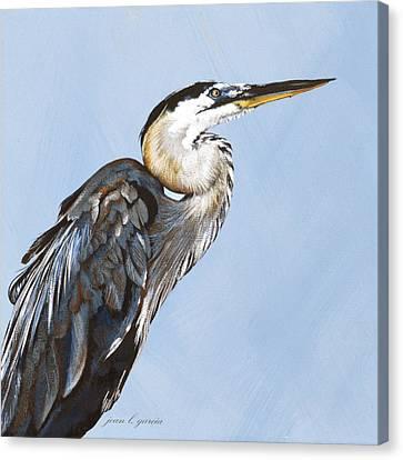 Great Blue I Canvas Print by Joan Garcia