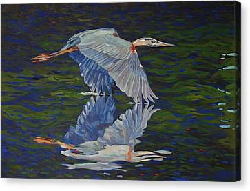 Great Blue Reflections Canvas Print