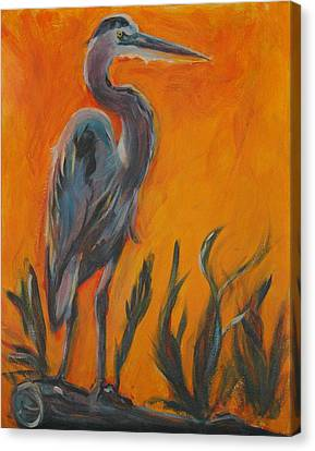 Great Blue Canvas Print by Stephanie Allison