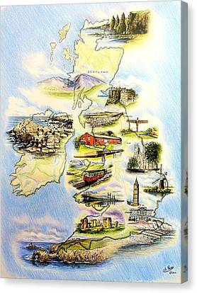 Great Britain And Ireland Canvas Print by Andrew Read