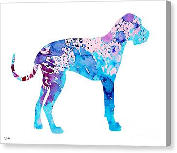 Great Dane 4 Canvas Print by Luke and Slavi
