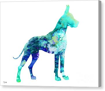 Great Dane 5 Canvas Print by Luke and Slavi