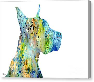 Great Dane 6 Canvas Print by Lyubomir Kanelov