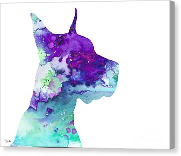 Great Dane 7 Canvas Print by Luke and Slavi