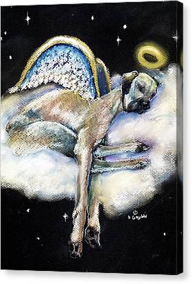 Great Dane Angel Leggy Canvas Print by Darlene Grubbs