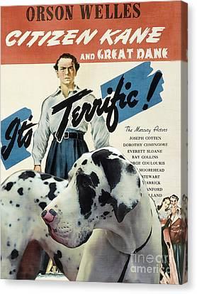 Great Dane Art Canvas Print - Citizen Kane Movie Poster Canvas Print