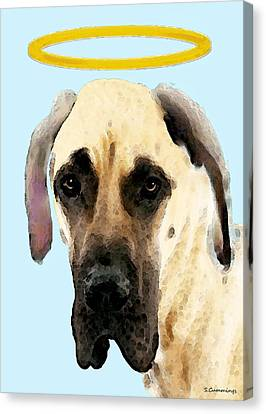 Great Dane Art - I Didn't Do It Canvas Print by Sharon Cummings