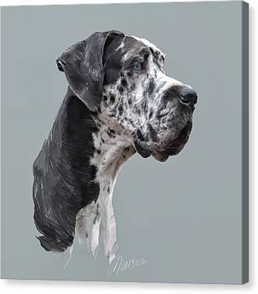 Great Dane Canvas Print by Marina Likholat