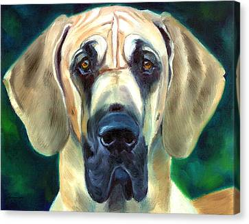Great Dane Nobility Canvas Print by Lyn Cook