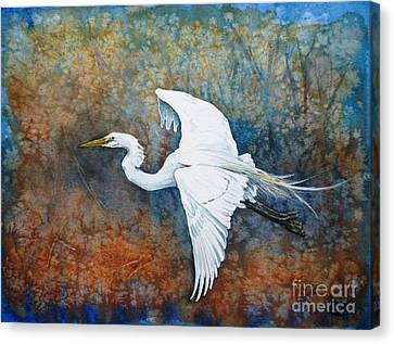 Great Egret  Canvas Print by Zaira Dzhaubaeva