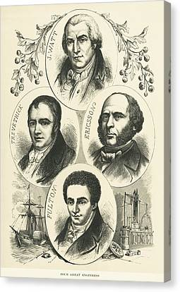 Great Engineers And Inventors Canvas Print by Underwood Archives
