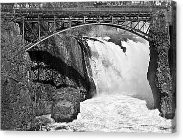 Great Falls In Paterson Nj Canvas Print by Anthony Sacco