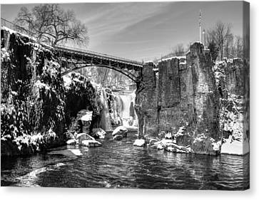 Great Falls In The Winter Canvas Print