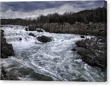 Great Falls Park Canvas Print - Great Falls by Joan Carroll