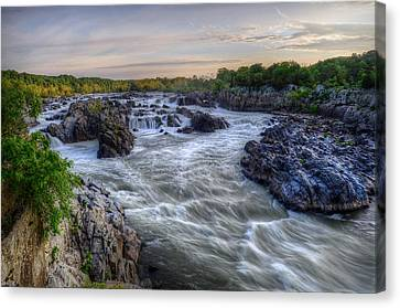 Canvas Print featuring the photograph Great Falls  by Michael Donahue