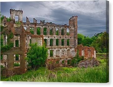 Great Falls Mill Ruins Canvas Print