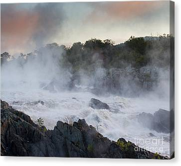 Canvas Print featuring the photograph Great Falls Mist by Dale Nelson