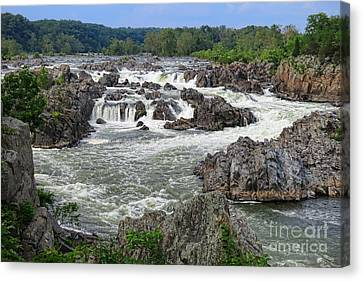 Great Falls Of The Potomac Canvas Print by Olivier Le Queinec