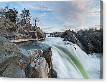 Great Falls On The Potomac River Canvas Print by Mark VanDyke