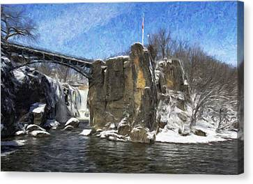 Great Falls Painted Canvas Print