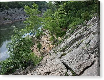 Great Falls Park - 121219 Canvas Print by DC Photographer