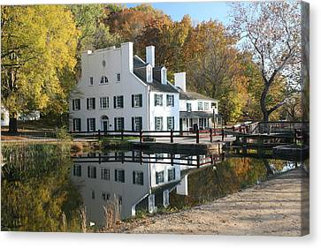 Great Falls Tavern Canvas Print by Jerry Tompkins