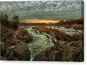 Great Falls Virginia Winter 2014 Canvas Print