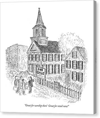 Great For Worship Then!  Great For Retail Now! Canvas Print by Edward Koren