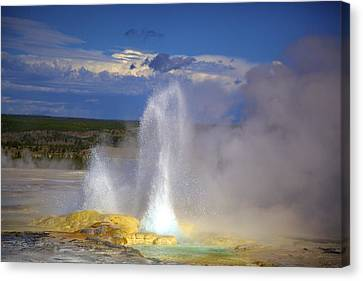 Great Fountain Geyser Canvas Print by Terry Horstman