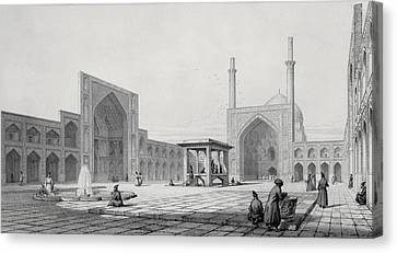 Great Friday Mosque In Isfahan Canvas Print by Pascal Xavier Coste