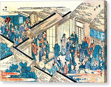 Great Gate New Yoshiwara 1811 Canvas Print by Padre Art