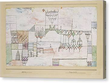 Great Hall For Singers Canvas Print by Paul Klee