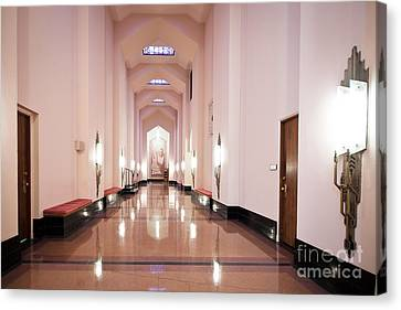 Canvas Print featuring the photograph Great Hall by Lawrence Burry