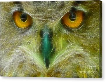 Great Horned Eyes Fractal Canvas Print by Gary Gingrich Galleries