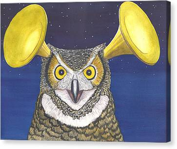 Great Horned Owl Canvas Print by Catherine G McElroy